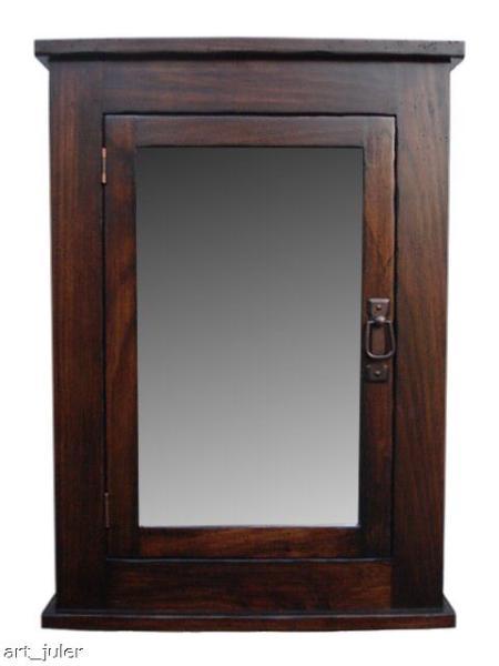 wall mount medicine cabinet primitive mission style ebay. Black Bedroom Furniture Sets. Home Design Ideas